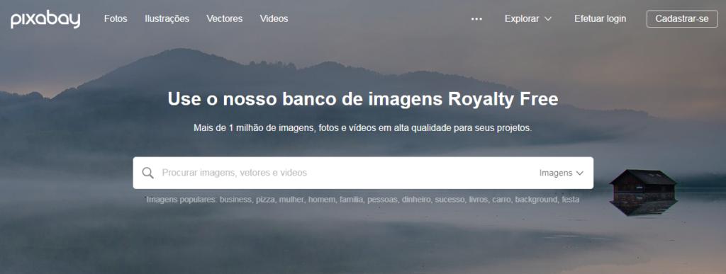 pixabay banco de imagens gratuito